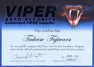 VIPER取付士合格証