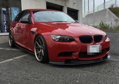 BMW E90 M3 リアルカーボンサイドスカートスポイラー取付 兵庫県神戸市明石市